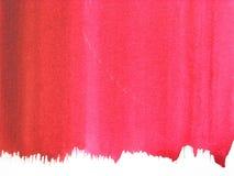 abstrakcjonistyczna tła czerwieni akwarela Fotografia Stock