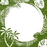 abstrakcjonistyczna tła granicy grunge palma Zdjęcie Stock