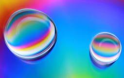 abstrakcjonistyczna tła kropel woda Zdjęcia Stock