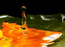 abstrakcjonistyczna tła kropli woda Obrazy Royalty Free