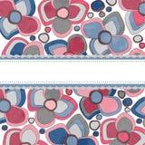 abstrakcjonistyczna tła kwiatów etykietka Fotografia Stock
