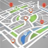 abstrakcjonistyczna tła miasta mapy perspektywa Zdjęcie Stock
