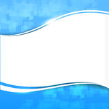 Abstrakcjonistyczna tła błękita fala krzywa i oświetleniowy elementu wektor Zdjęcia Royalty Free