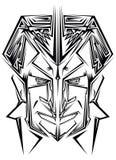 Abstrakcjonistyczna tatuaż twarz Obrazy Royalty Free