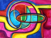 abstrakcjonistyczna tęcza Obraz Royalty Free