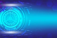 Abstrakcjonistyczna technologia cyfrowa z błękitem przygotowywa tło Zdjęcie Stock