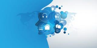 Abstrakcjonistyczna technologia, Maszynowy uczenie, Sztucznej inteligencji pojęcie zdjęcia stock