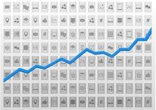 Abstrakcjonistyczna technologie informacyjne analizy ilustracja dla proroczych analityka lub business intelligence Fotografia Royalty Free