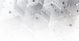Abstrakcjonistyczna technologii cząsteczka Wirtualny molekuły tło Compu royalty ilustracja