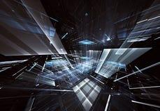 Abstrakcjonistyczna technologii 3D ilustracja Wzór, ulotka, sztandar, graficzny projekt Obrazy Stock
