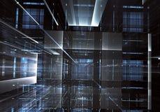 Abstrakcjonistyczna technologii 3D ilustracja Wzór, ulotka, sztandar, graficzny projekt Obrazy Royalty Free