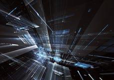 Abstrakcjonistyczna technologii 3D ilustracja Wzór, ulotka, sztandar, graficzny projekt Obraz Stock