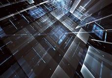 Abstrakcjonistyczna technologii 3D ilustracja Wzór, ulotka, sztandar, graficzny projekt Fotografia Royalty Free