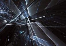 Abstrakcjonistyczna technologii 3D ilustracja Wzór, ulotka, sztandar, graficzny projekt Zdjęcie Royalty Free