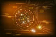 Abstrakcjonistyczna technologii tła łuna w zmroku - czerwony kolor ilustracji