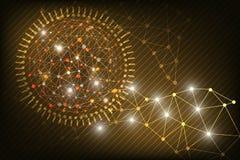 Abstrakcjonistyczna technologii tła łuna w zmroku - czerwony kolor Obraz Royalty Free