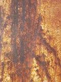 Abstrakcjonistyczna tekstura ciemnego brązu ośniedziały metal zdjęcia stock