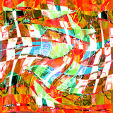 Abstrakcjonistyczna tekstura druk tkanina dla tła Zdjęcie Royalty Free