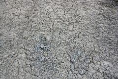 Abstrakcjonistyczna tekstura krakingowy suchy biały brud Zdjęcie Royalty Free