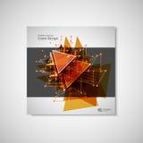 Abstrakcjonistyczna trójbok linia Plakatowy broszurki ulotki projekta układu wektorowy szablon w A4 rozmiarze Fotografia Stock