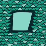 Abstrakcjonistyczna trójbok rama Zdjęcie Royalty Free