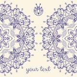 Abstrakcjonistyczna wektor karta z ornamentacyjny round mandala Zdjęcie Royalty Free