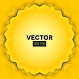 Abstrakcjonistyczna wektor rama z żółtymi liśćmi Fotografia Royalty Free