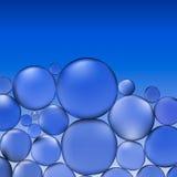 Abstrakcjonistyczna wektor woda z bąblami Błękitny tło wzór royalty ilustracja