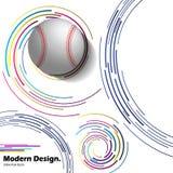 Abstrakcjonistyczna wektorowa baseball piłka na nowożytnym tle ilustracja wektor