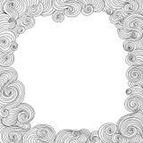 Abstrakcjonistyczna wektorowa czarny i biały dekoracyjna rama z fryzowaniem wykłada Fotografia Stock