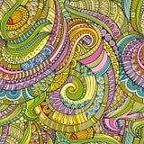 Abstrakcjonistyczna wektorowa dekoracyjna ręka rysujący natura kwiecisty eamless wzór ilustracja wektor