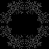 Abstrakcjonistyczna wektorowa dekoracyjna rama z fryzowanie kształtami Zdjęcia Royalty Free