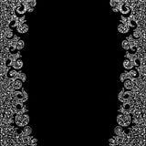 Abstrakcjonistyczna wektorowa dekoracyjna rama z obliczać koronkowymi granicami royalty ilustracja