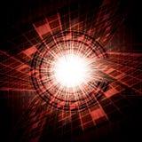 Abstrakcjonistyczna wektorowa futurystyczna czerwień Zdjęcia Royalty Free