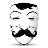 Abstrakcjonistyczna Wektorowa ilustraci maska z wąsy Fotografia Stock