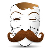 Abstrakcjonistyczna Wektorowa ilustraci maska z wąsy Obraz Royalty Free