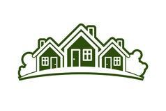 Abstrakcjonistyczna wektorowa ilustracja dom na wsi z horyzont linią ilustracja wektor