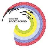Abstrakcjonistyczna wektorowa ilustracja przedstawia barwiących okręgi na białym tle Obraz Royalty Free