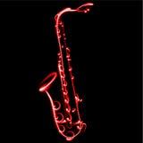 Abstrakcjonistyczna Wektorowa ilustracyjna Saksofonowa muzyka Zdjęcie Royalty Free