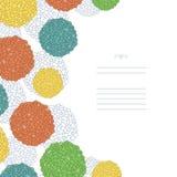 Abstrakcjonistyczna wektorowa kolorowa karta Obraz Stock