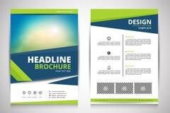 Abstrakcjonistyczna wektorowa nowożytna ulotki broszurka Obraz Stock