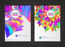 Abstrakcjonistyczna wektorowa nowożytna ulotki broszurka Zdjęcia Royalty Free