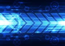 Abstrakcjonistyczna wektorowa przyszłościowa technologii prędkości tła ilustracja ilustracji