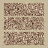 Abstrakcjonistyczna wektorowa ręka rysujący etniczni sztandary Obraz Royalty Free