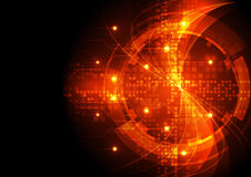 Abstrakcjonistyczna wektorowa technologii cyfrowej tła ilustracja Zdjęcia Stock