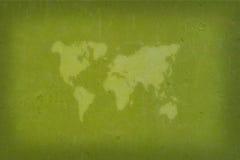 Abstrakcjonistyczna światowa mapa Zdjęcia Stock