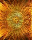 Abstrakcjonistyczna wibrująca pomarańczowa złocista tekstura, tło Obraz Royalty Free
