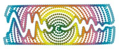 Abstrakcjonistyczna Wibrująca fala muzyka - kropka styl Zdjęcia Royalty Free
