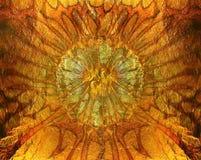 Abstrakcjonistyczna wibrująca pomarańczowa złocista tekstura, tło Obrazy Royalty Free