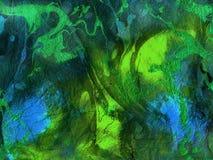 Abstrakcjonistyczna wibrująca zielona błękitna tekstura, tło Zdjęcia Stock
